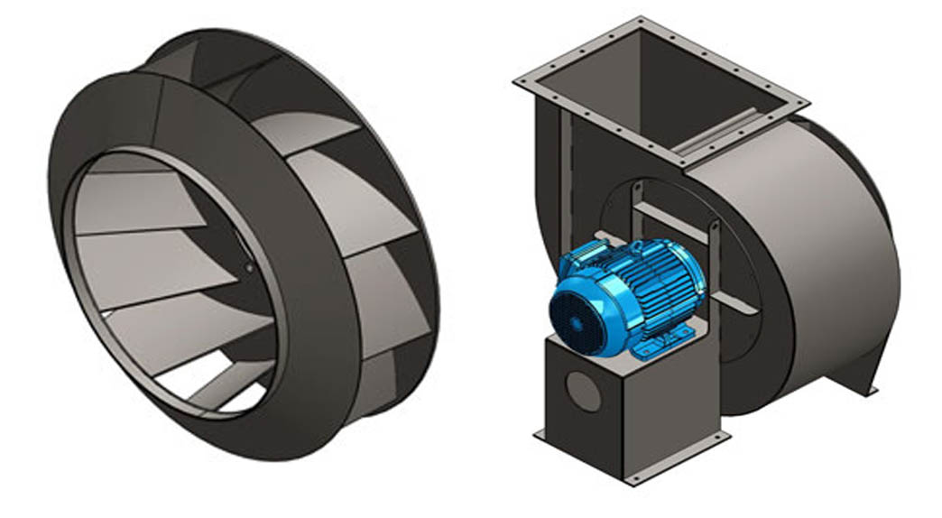 Backward Inclined Fan : Centrifugal blowers and impeller apzem